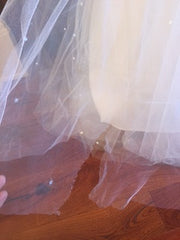 Mori Lee 'Madeline Garnder' size 8 used wedding dress view of tulle