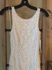 Theia 'Tara' size 6 new wedding dress front view close up on hanger