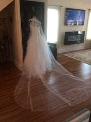 Pnina Tornai 'Princess' size 4 new wedding dress side view on mannequin