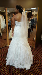 Essence of Australia 'Beaded' size 10 new wedding dress back view on bride