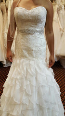 Essence of Australia 'Beaded' size 10 new wedding dress front view on bride