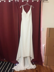 Enzoani 'Lacy' size 8 new wedding dress front view on hanger
