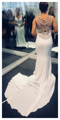 Enzoani 'Lacy' size 8 new wedding dress back view on bride