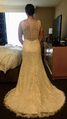 Essence of Australia '1673' size 8 used wedding dress  back view on bride