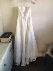 Judd Waddell 'Dusty' size 6 sample wedding dress back view on hanger