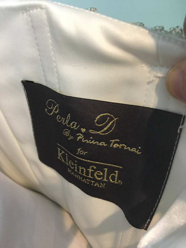 Pnina Tornai 'Perla D' size 2 used wedding dress view of tag