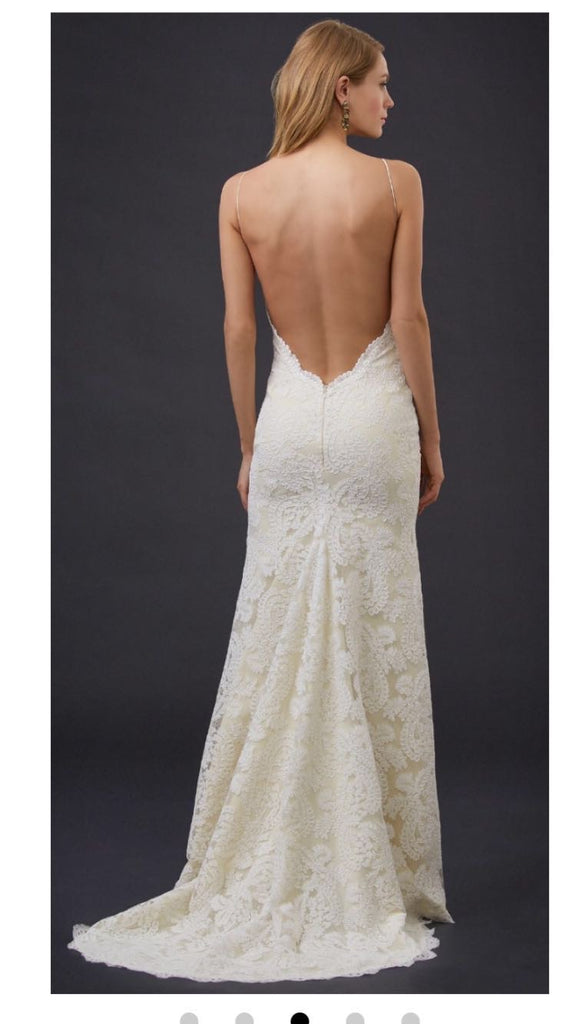 Katie May 'Poipu' size 0 new wedding dress back view on model