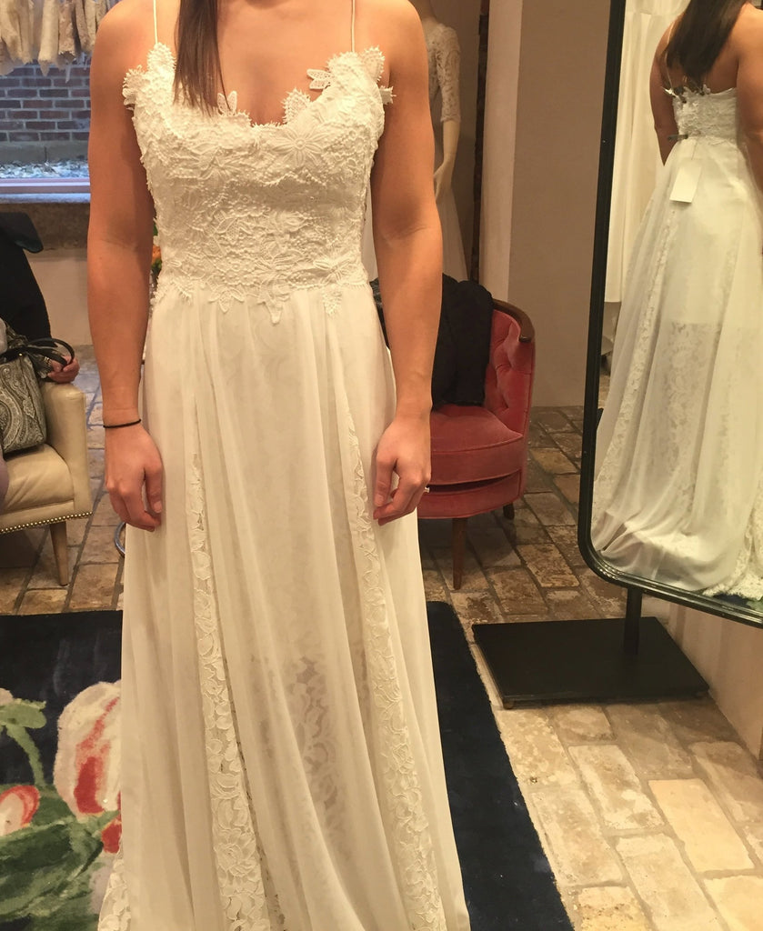 BHLDN 'Gibson' size 2 new wedding dress front view on bride
