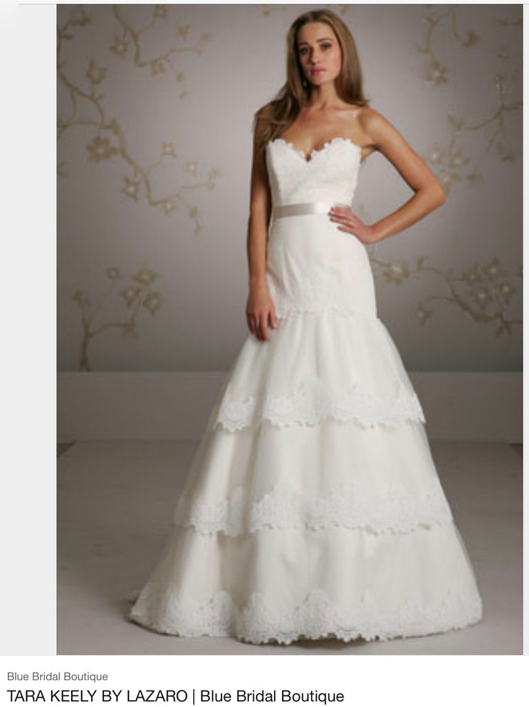 Tara Keely '2052' size 4 new wedding dress front view on model