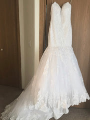 Maggie Sottero 'Marianne' size 2 new wedding dress front view on hanger