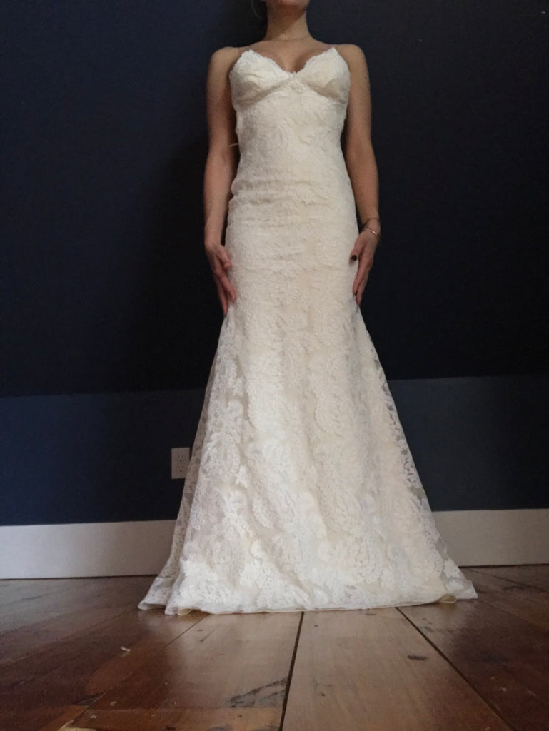 Katie May 'Poipu' size 0 new wedding dress front view on bride