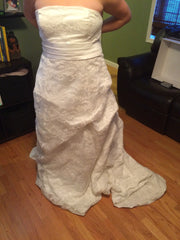 Custom Made Strapless Gown - Custom made - Nearly Newlywed Bridal Boutique - 2