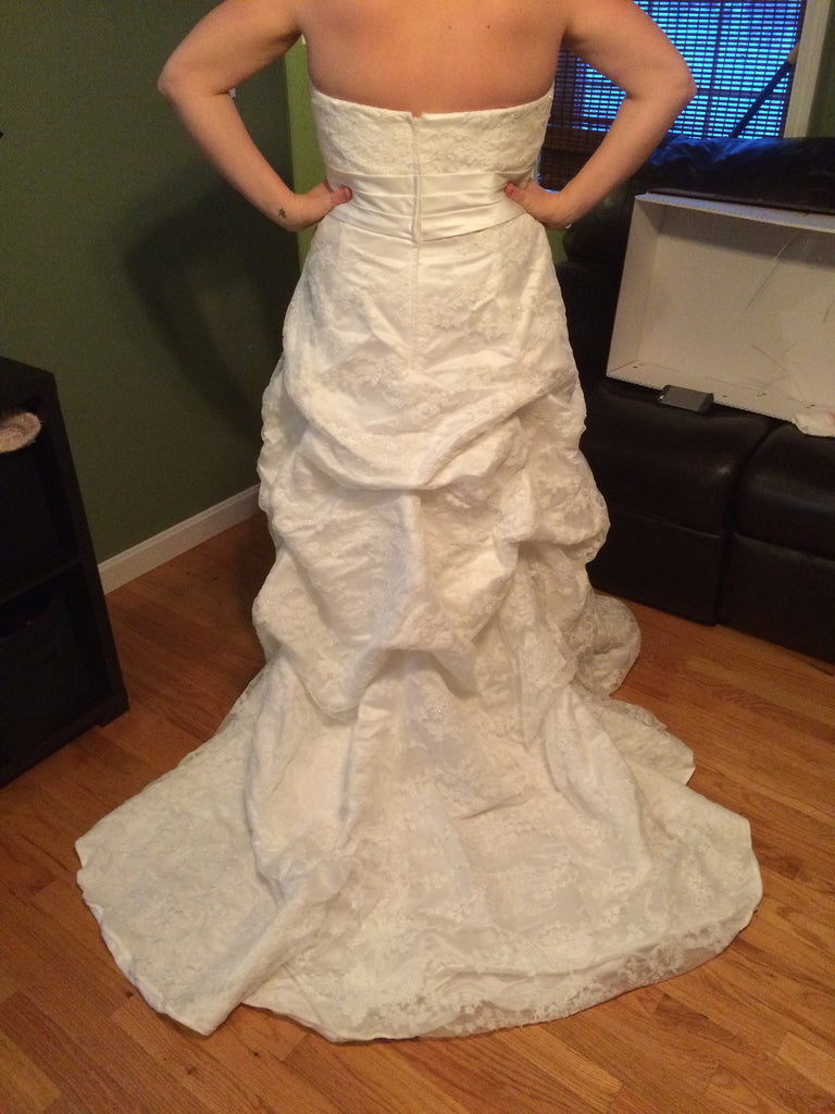 Custom Made Strapless Gown - Custom made - Nearly Newlywed Bridal Boutique - 3