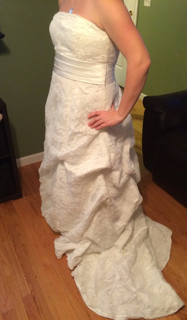 Custom Made Strapless Gown - Custom made - Nearly Newlywed Bridal Boutique - 5