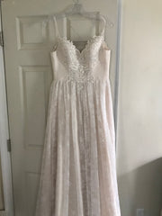 Lillian West '6395' size 4 new wedding dress front view on hanger
