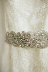Jim Hjelm '8958' size 14 used wedding dress view of belt