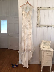 Maggie Sottero 'Jade' size 2 used wedding dress front view on hanger