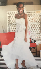 Pnina Tornai '5165' size 4 used wedding dress front view on bride