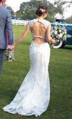 Maggie Sottero 'Jade' size 2 used wedding dress back view on bride