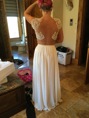 Riki Dalal 'Verona-1811' size 4 new wedding dress back view on bride