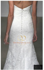 Ulla Maija 'Sacha' size 6 used wedding dress back view on bride