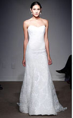 Ulla Maija 'Sacha' size 6 used wedding dress front view on model