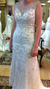 Maggie Sottero 'Sonata' size 4 used wedding dress front view on bride