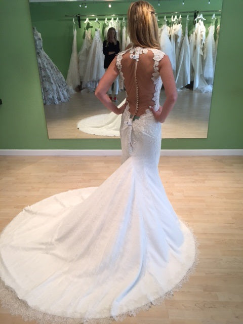 Ines Di Santo 'Spicy' size 2 new wedding dress back view on bride