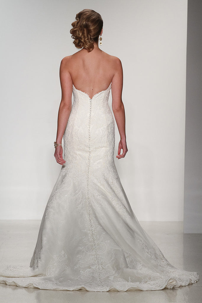 Matthew Christopher 'Isabel' size 4 new wedding dress back view on model