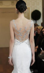Isabelle Armstrong 'Helena' size 10 new wedding dress back view close up on model