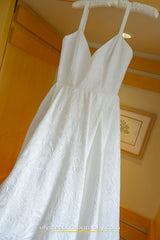 Rebecca Schoneveld 'The Whitney' size 6 used wedding dress front view close up on hanger