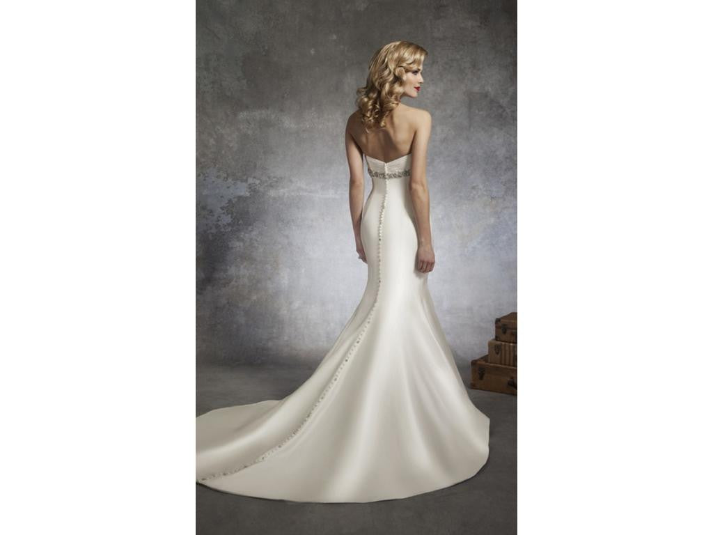 Justin Alexander '8659' size 8 new wedding dress back view on model