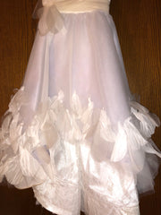 Exquisite Brides 'Ivory and Lavender Elaborate Flower Girl Dress- 118' size 8 child's flower girl dress view of body of dress