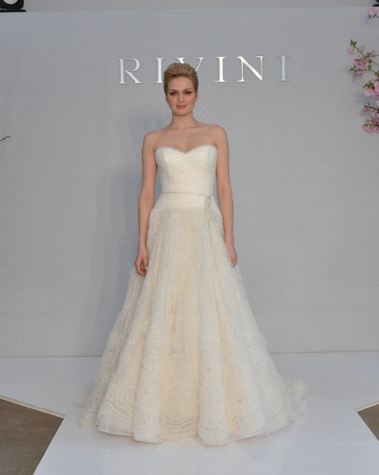 Rivini 'Kyra' Ruched Tulle Dress - Rivini - Nearly Newlywed Bridal Boutique - 1