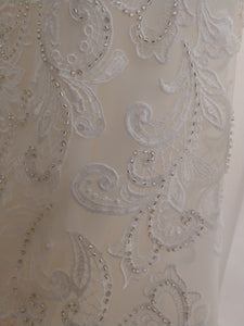 Mori Lee 'Karlee  '8207' size 10 new wedding dress close up of material