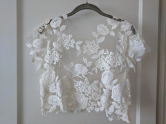 Kaviar Gauche 'Mystic Rose' size 2 used wedding dress front view of top