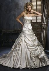 Maggie Sottero 'Kendra' size 8 used wedding dress front view on model
