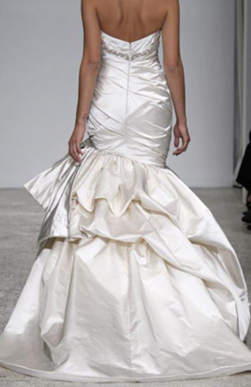 Kenneth Pool 'Romantic' Strapless Satin Gown - Kenneth Pool - Nearly Newlywed Bridal Boutique - 2