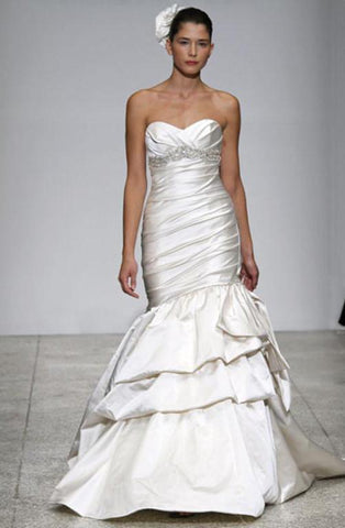 Kenneth Pool 'Romantic' Strapless Satin Gown