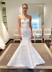 Kenneth Pool 'Milani' size 6 sample wedding dress front view on bride
