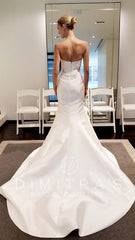 Kenneth Pool 'Milani' size 6 sample wedding dress back view on bride