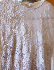 Pronovias 'Elvira' size 4 used wedding dress close up of fabric