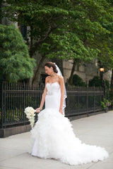 Lazaro Style LZ3258 Ivory Trumpet Gown - Lazaro - Nearly Newlywed Bridal Boutique - 2