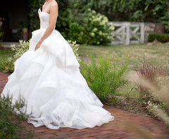 Vera Wang 'Katherine' with Lace Detail and Extended Train - Vera Wang - Nearly Newlywed Bridal Boutique - 5