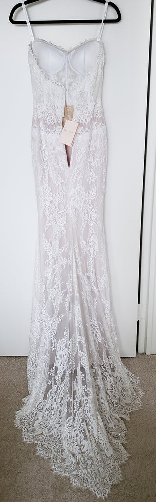 Lihi Hod 'Sienna' size 0 new wedding dress back view on hanger