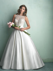 Allure Bridals '9152' size 12 used wedding dress front view on model