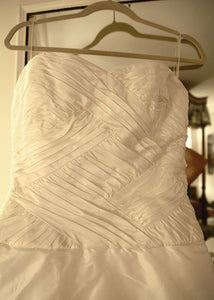 Reem Acra Silk Strapless A-line Wedding Dress - Reem Acra - Nearly Newlywed Bridal Boutique - 4