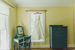 Romona Keveza '904' size 4 used wedding dress front view on hanger