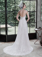 Maggie Sottero 'Alanis' size 8 new wedding dress back view on bride