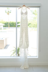 Grace Loves Lace 'Alexandria' size 0 used wedding dress front view on hanger